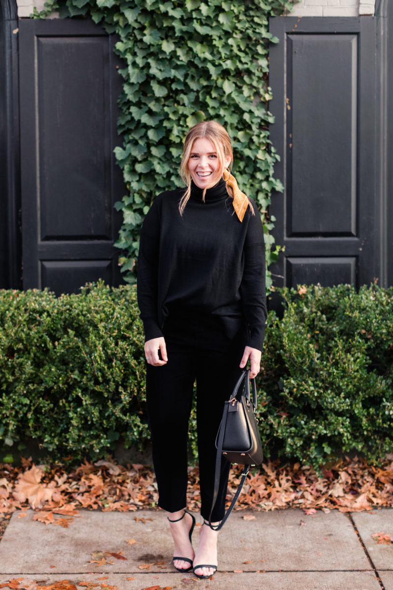 Chic and Cozy Holiday Outfit - Emily Lucille