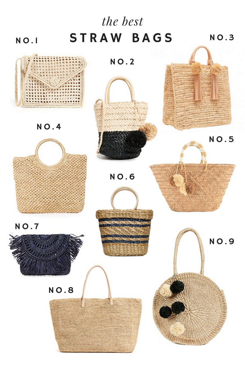 The Best Straw Bags - Emily Lucille